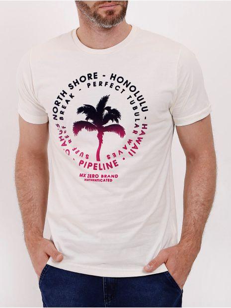 Camiseta-Manga-Curta-Masculina-Bege-P