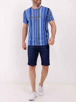 Camiseta-Listrada-Manga-Curta-Gangster-Masculina-Azul