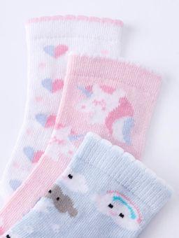 Kit-com-03-Meias-Infantil-Para-Bebe-Menina---Azul-branco-20-22