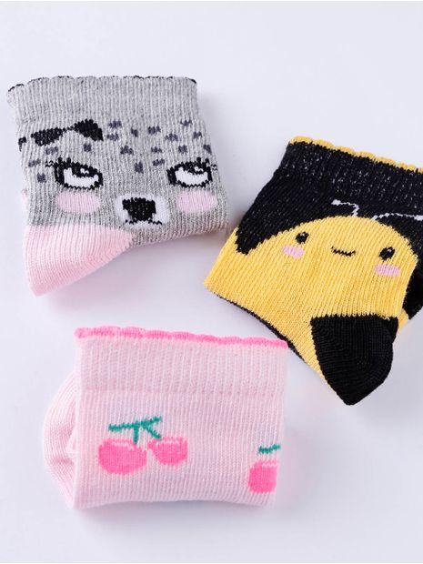 Kit-com-03-Meias-Infantil-Para-Bebe-Menina---Rosa-cinza-16-19
