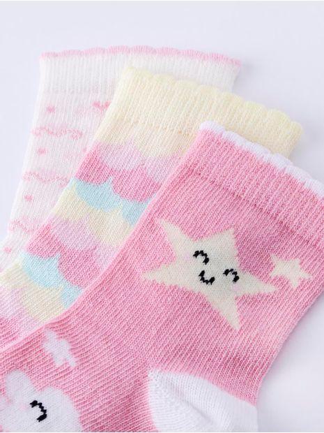 Kit-com-03-Meias-Infantil-Para-Bebe-Menina---Off-White-amarelo-20-22