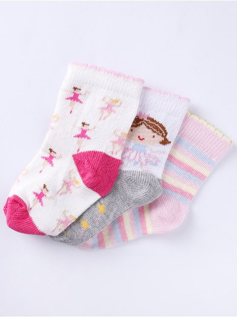 Kit-com-03-Meias-Infantil-Para-Bebe-Menina---Off-White-rosa-16-19
