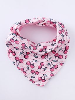 Babador-Bandana-Impermeavel-Infantil-Para-Bebe-Menina---Rosa-Pink-rosa