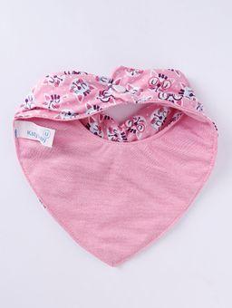 Babador-Bandana-Impermeavel-Infantil-Para-Bebe-Menina---Rosa-rosa