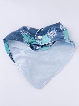 Babador-Bandana-Impermeavel-Infantil-Para-Bebe-Menino---Azul-verde