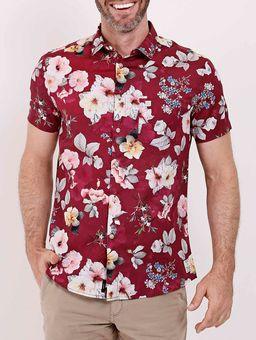 Camisa-Manga-Curta-Masculina-Bordo-P