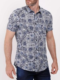 Camisa-Manga-Curta-Masculina-Azul-P