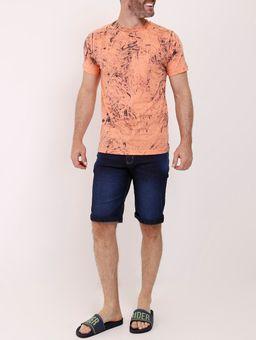 Camiseta-Manga-Curta-Tie-Dye-Masculina-Laranja-P