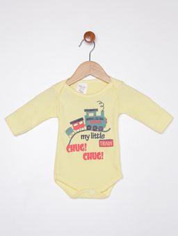 Body-Infantil-Para-Bebe-Menino---Amarelo-cinza-P