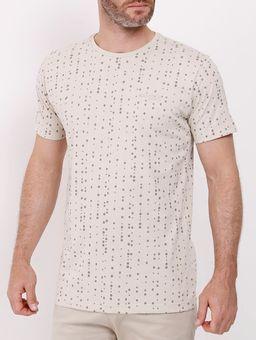 Camiseta-Manga-Curta-Dixie-Masculina-Bege-P