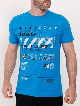 Camiseta-Manga-Curta-Gangster-Masculina-Azul-P