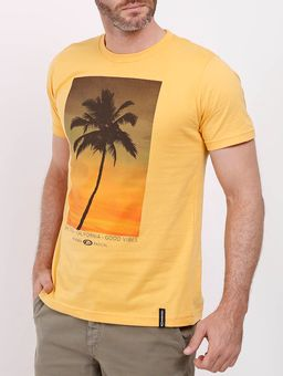 Camiseta-Manga-Curta-Masculina-Amarelo-P