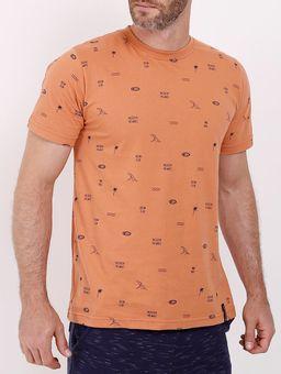 Camiseta-Manga-Curta-Estampada-Masculina-Salmao-P