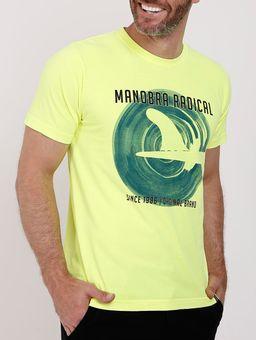 Camiseta-Manga-Curta-Masculina-Amarelo-Neon-P