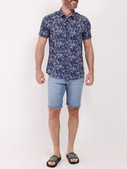 Camisa-Manga-Curta-Masculina-Azul-Marinho-P