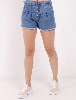 Short-Jeans-com-Cinto-Feminino-Azul