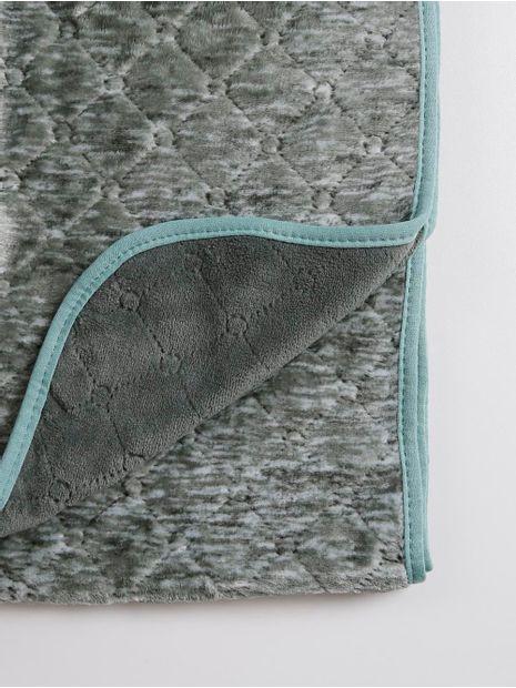 Cobertor-Casal-Plush-Altenburg-Blend-Verde-verde-Escuro
