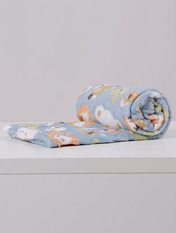 Manta-Corttex-Love-Baby-Infantil-Para-Bebe---Azul-laranja