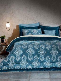 Edredom-Plush-Casal-Azul-branco