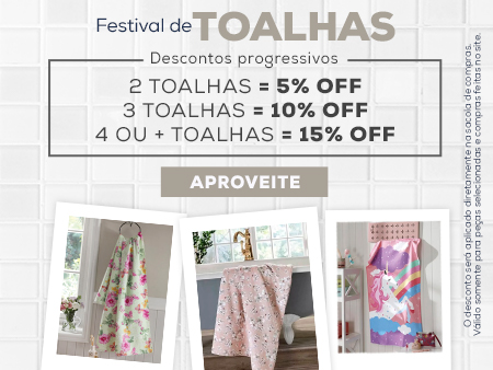 M Festival de toalhas