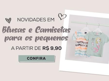 M Blusas e Camisetas infantis