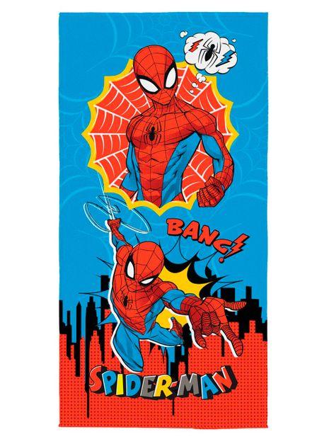 Toalha-Aveludada-Spiderman-Infantil-Lepper-Azul-vermelho