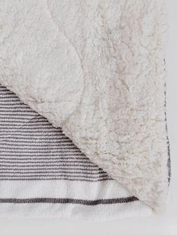 Cobertor-Plush-Sherpa-Casal-Slim-Chumbo