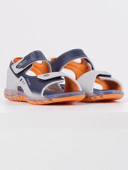 Sandalia-com-Led-Kidy-Infantil-para-Menino---Azul-laranja