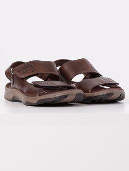 Sandalia-em-Couro-Pegada-Masculina-Marrom-Escuro-38