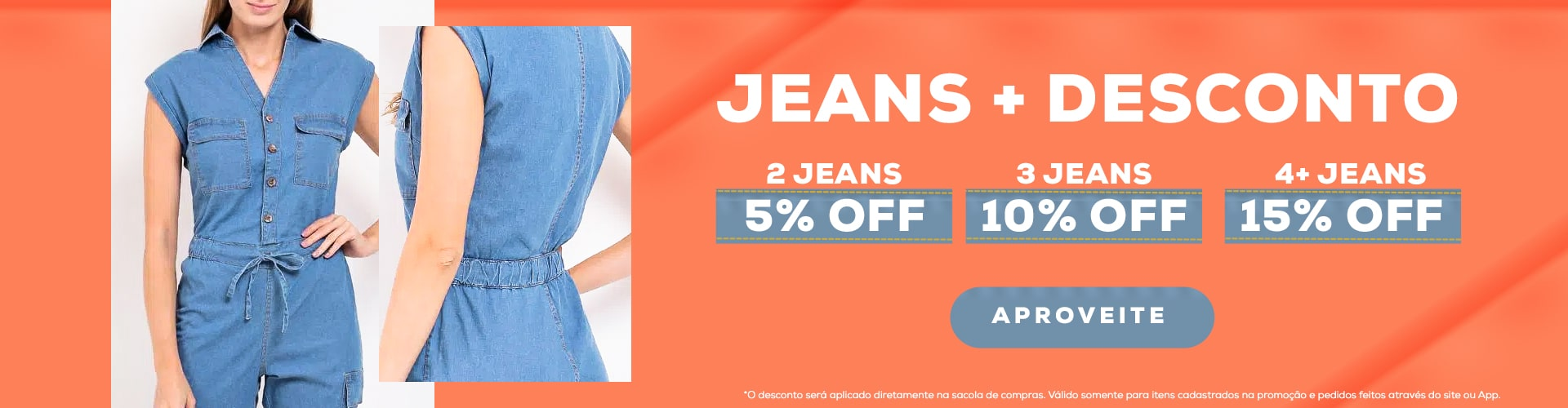 Desconto progressivo Jeans