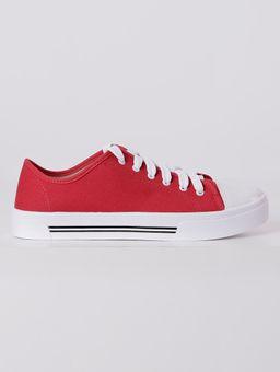 Tenis-Casual-Moleca-Feminino-Vermelho-branco