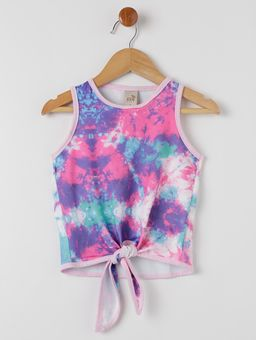 Conjunto-Short-Infantil-Para-Menina---Azul-multicolorido