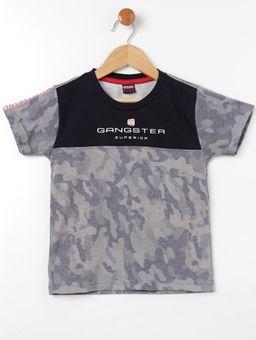 Camiseta-Manga-Curta-Gangster-Infantil-Para-Menino---Cinza