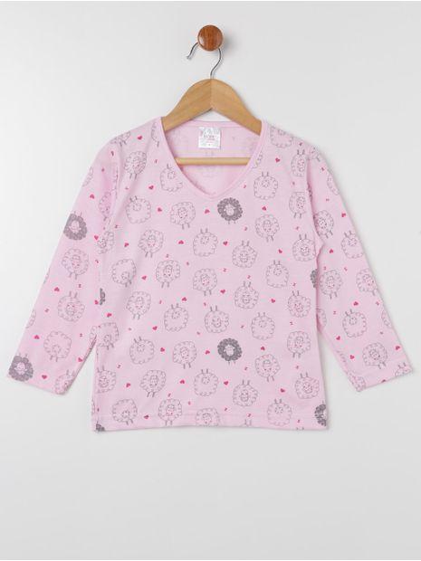 Pijama-Longo-Infantil-Para-Menina---Rosa-rose