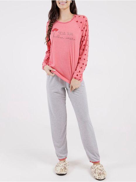 Pijama-Longo-Feminino-Vermelho