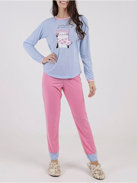 Pijama-Longo-Feminino-Azul-Marinho-rosa