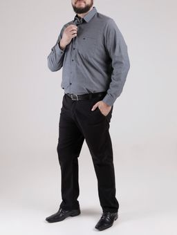 Camisa-Manga-Longa-Plus-Size-Masculina-Verde-Escuro