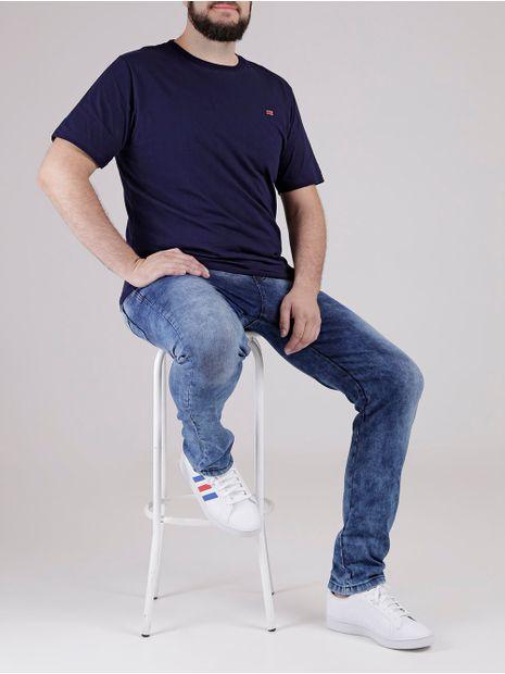 Camiseta-Manga-Curta-Plus-Size-Masculina-Azul-Marinho