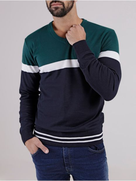 Sueter-Masculino-Verde-azul-Marinho