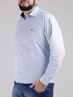 Camisa-Manga-Longa-Plus-Size-Masculina-Azul-Claro