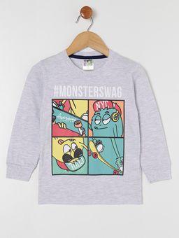 Camiseta-Manga-Longa-Infantil-Para-Menino---Cinza