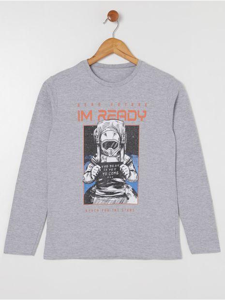 Camiseta-Manga-Longa-Juvenil-Para-Menino---Cinza