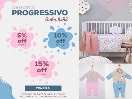 M Desconto Progressivo linha Bebê / OI 21 Feminino e masculino