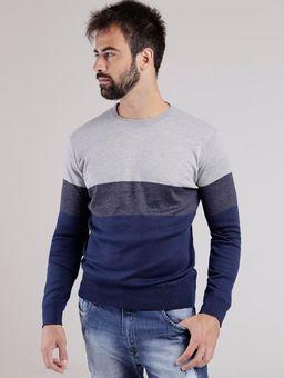 Blusao-Tricot-Masculino-Cinza-azul-Marinho