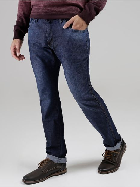 Calca-Jeans-Slim-Fit-Vilejack-Masculina-Azul-