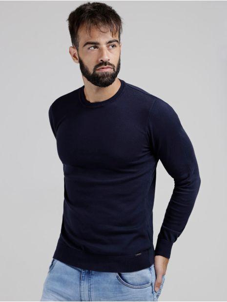 Sueter-Basico-Tricot-Masculino-Azul-Marinho