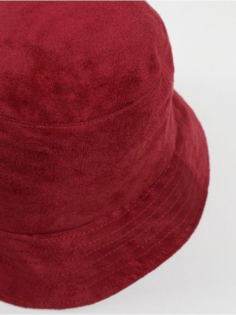 Chapeu-Bucket-Suede-Vermelho