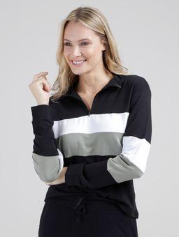 Blusa-Manga-Longa-Tricolor-Feminina-Preto-verde