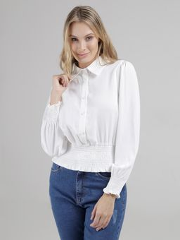 Camisa-Manga-Longa-Eagle-Rock-Feminina-Off-White