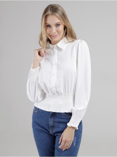 Camisa-Manga-Longa-Eagle-Rock-Feminina-Off-White